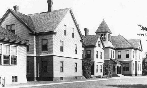 photo of some of the Madawaska Training School's original buildings