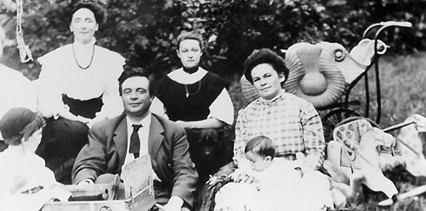 historical photo of a local family, from the Roland Page Collection