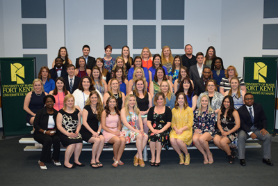 UMFK nursing pinning ceremony group photo - names of students provided in the caption
