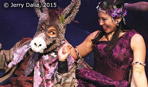 Titania and Bottom from the 2015 Touring Production of A Midsummer Night's Dream, copyright Jerry Dalia, 2015