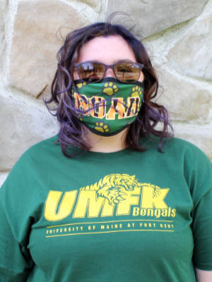 photo of Taylor Brown wearing mask