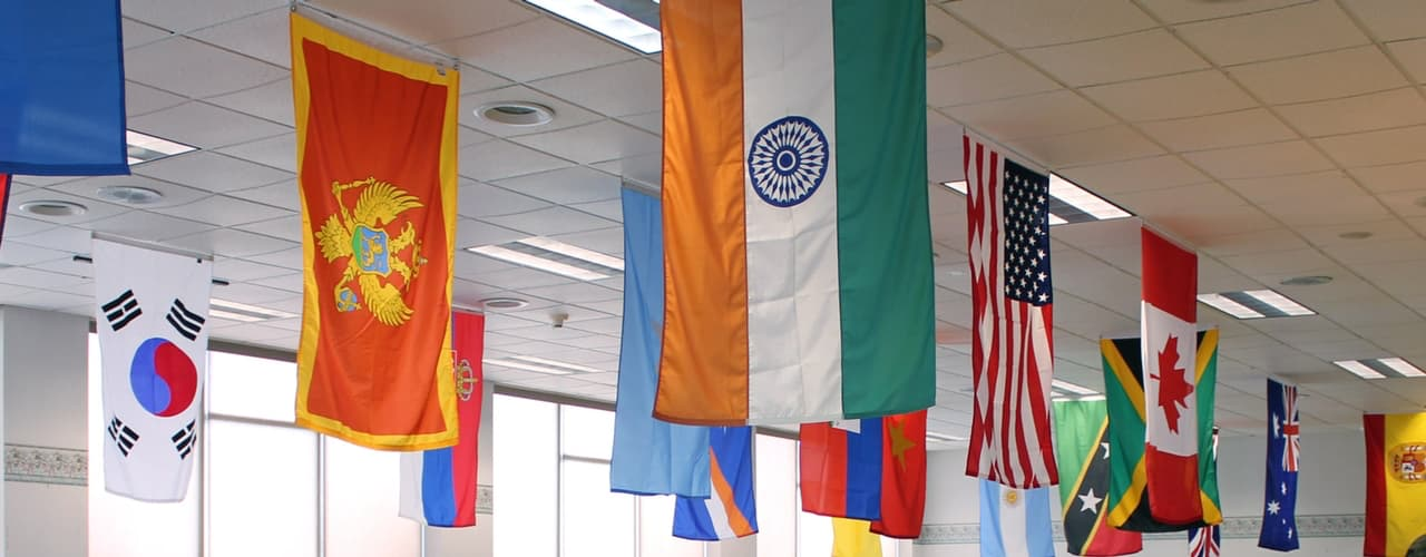 Flags of the Students in UMFK