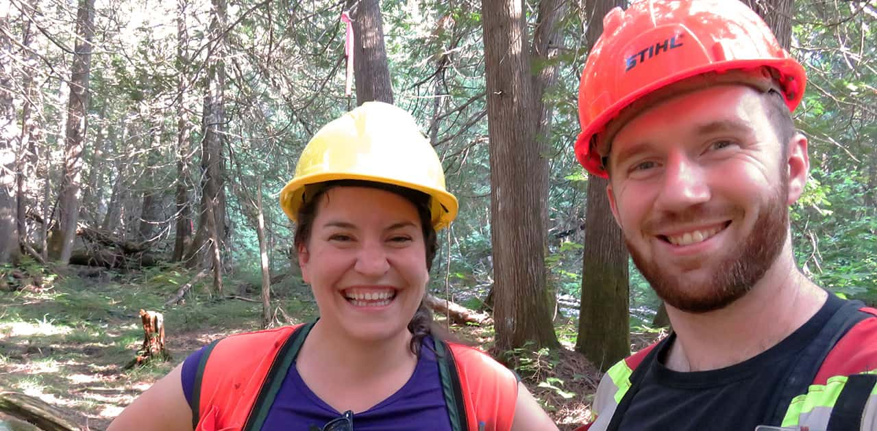 two forestry professors pose fro a selfie