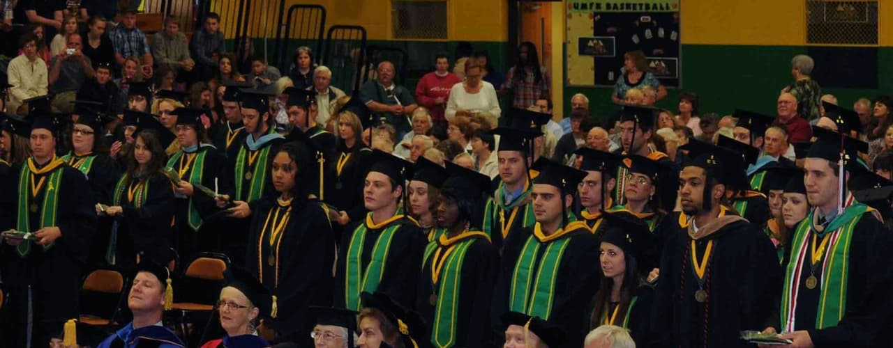 Photo of Graduates During Commencement